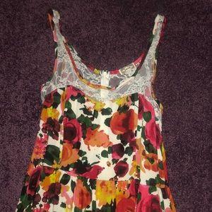 Pacsun Kirra floral dress with lace size S/M